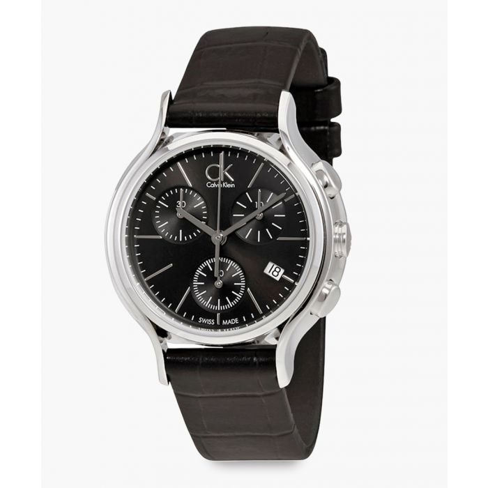Image for Black and silver-tone watch
