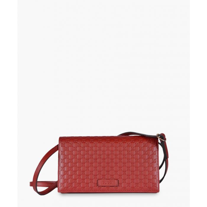 Image for Guccissima red leather crossbody