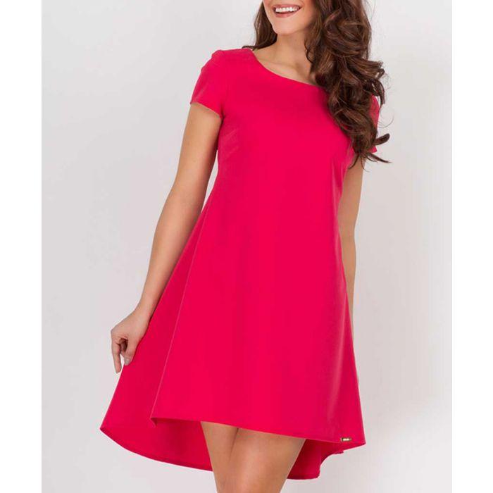 Image for Raspberry short sleeve trapezium dress