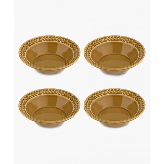 Image for 4pc Botanic Garden Harmony amber cereal bowl set