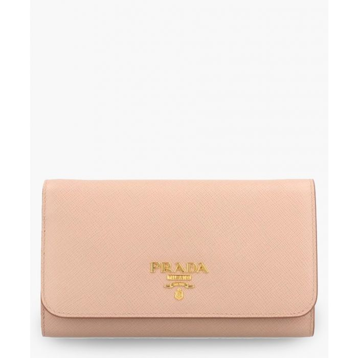 Image for Pink saffiano leather wallet