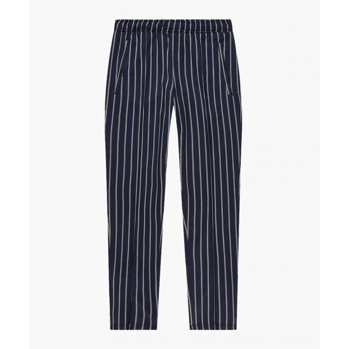 Image for Fine striped slim trousers