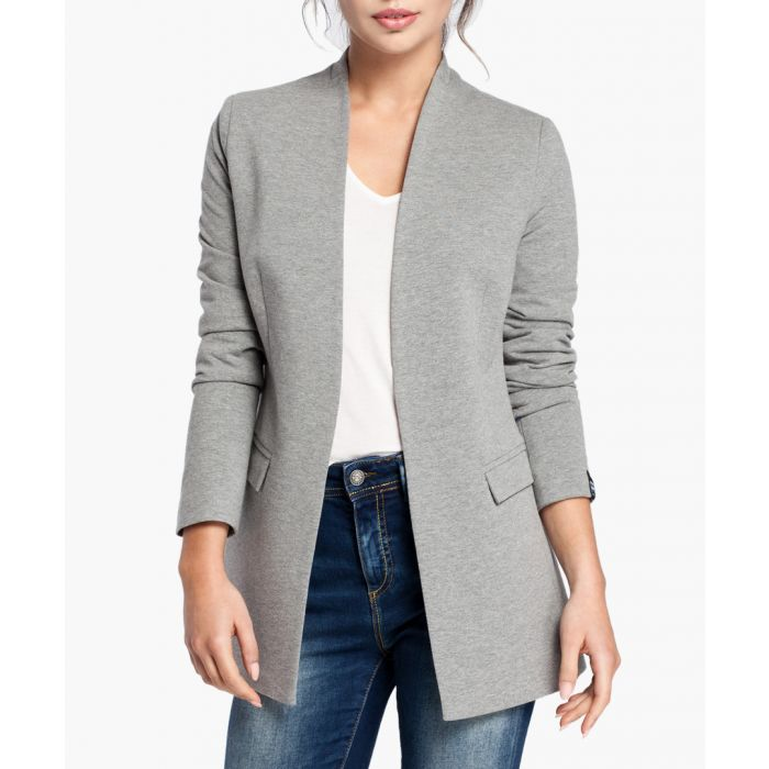 Image for Grey Cotton Blend Blazer