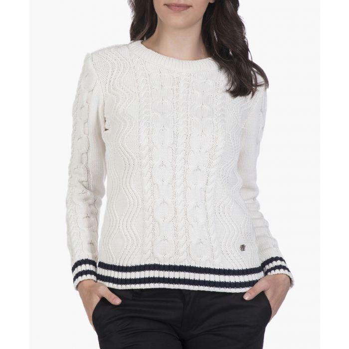 Image for Ecru cotton blend jumper