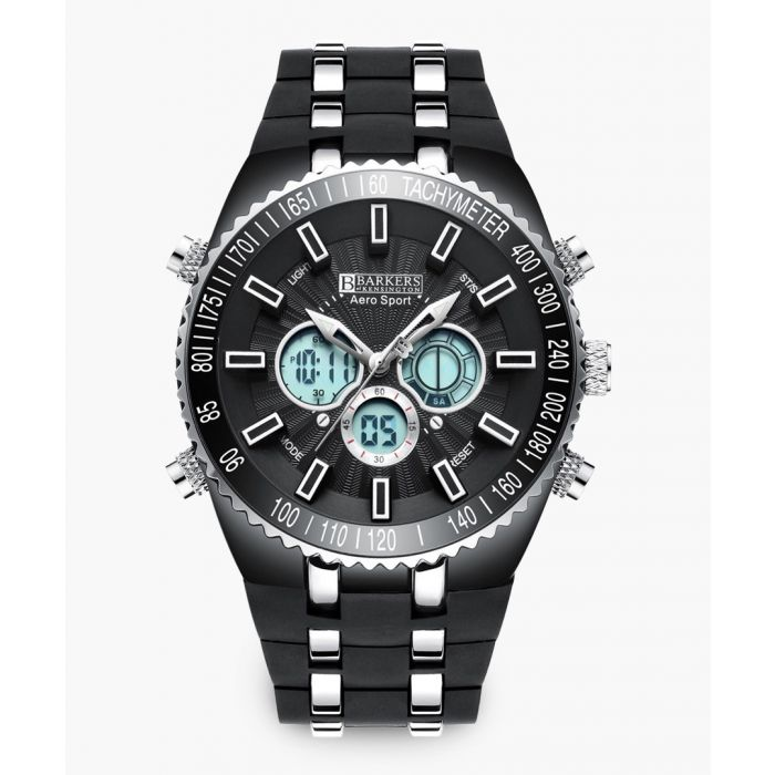 Image for Aero Sport jet black stainless steel watch