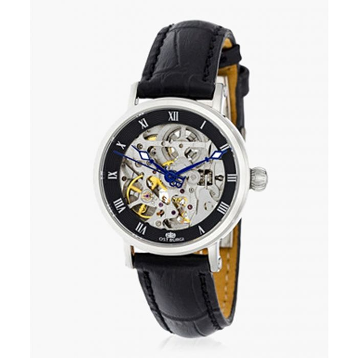 Image for La Metropole black leather watch