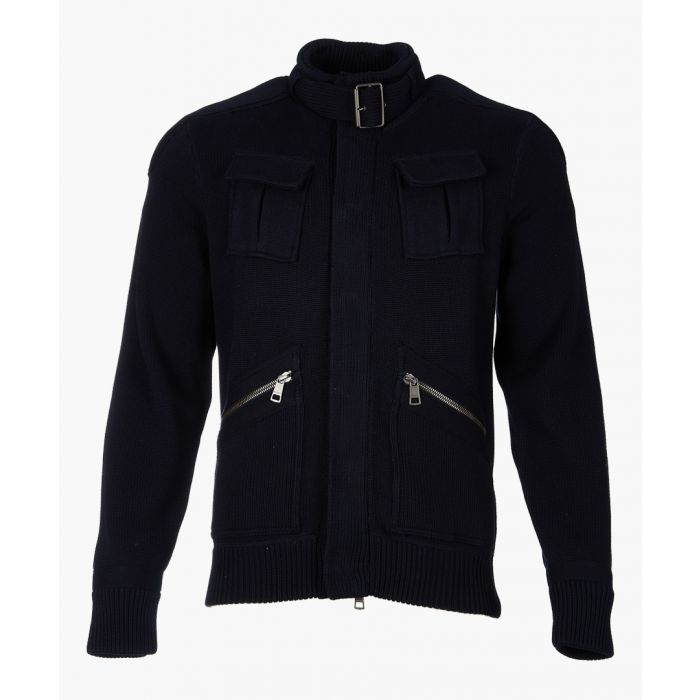 Image for navy pure cotton cardigan