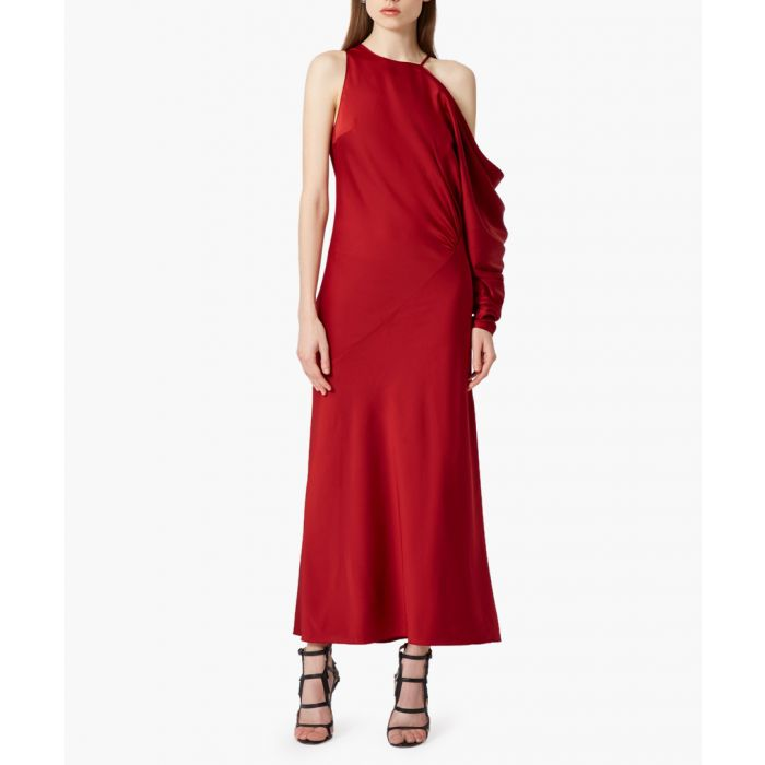 Image for Giana wine one-sleeve maxi dress