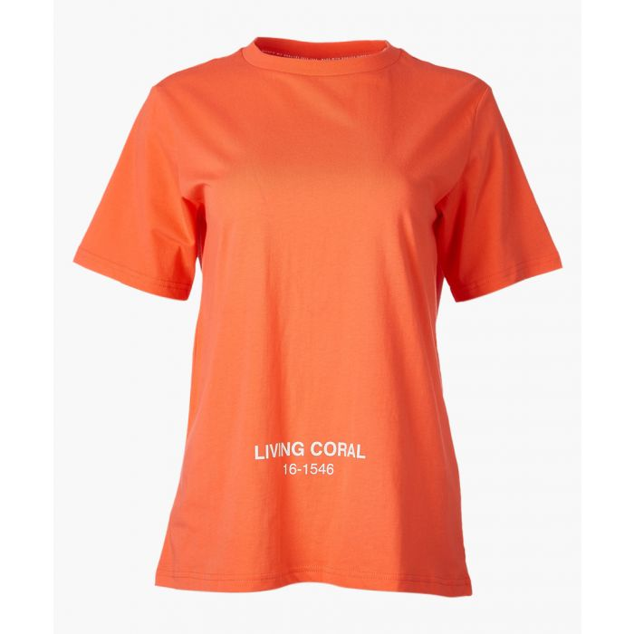 Image for x Pantone orange pure cotton T-shirt
