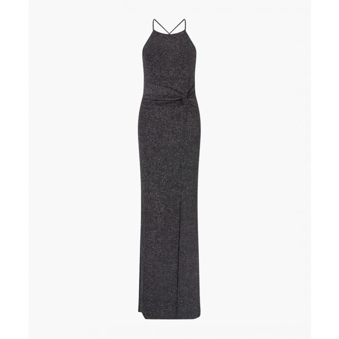 Image for Black glitter maxi dress
