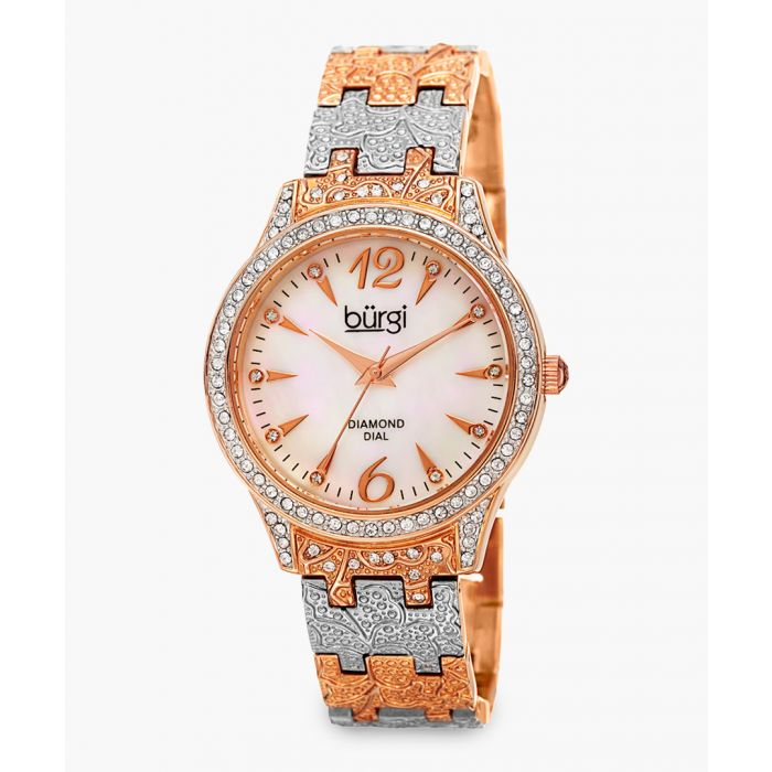 Image for Silver-tone and rose gold-tone embellished watch
