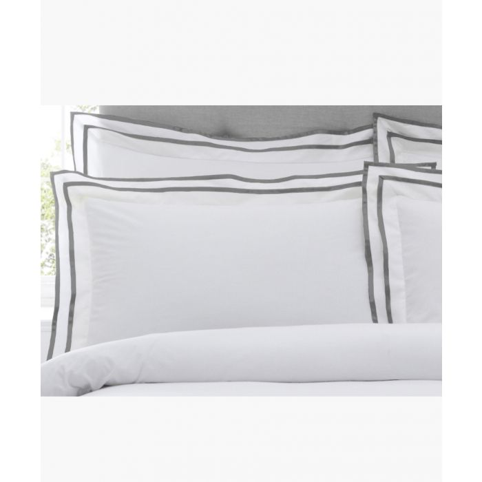 Image for Sandringham silver-tone single cotton duvet cover set