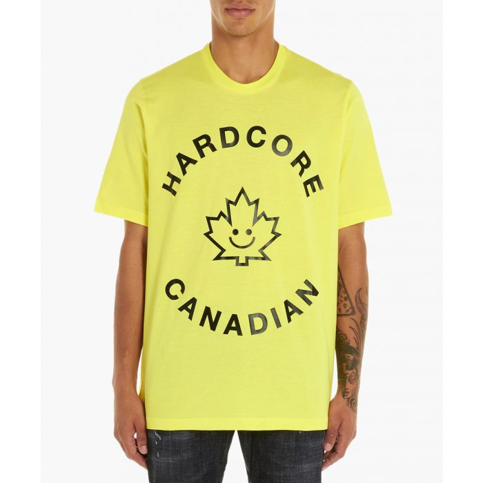 Image for Hardcore Canadian yellow cotton T-shirt