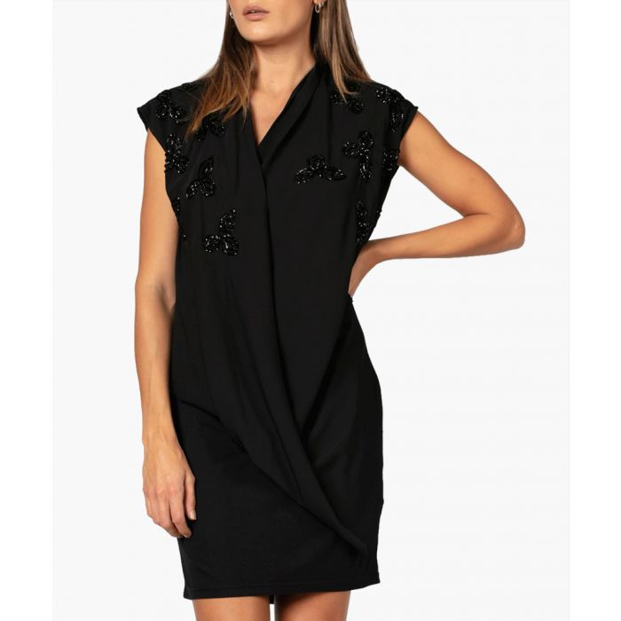 Image for Jet black structure dress