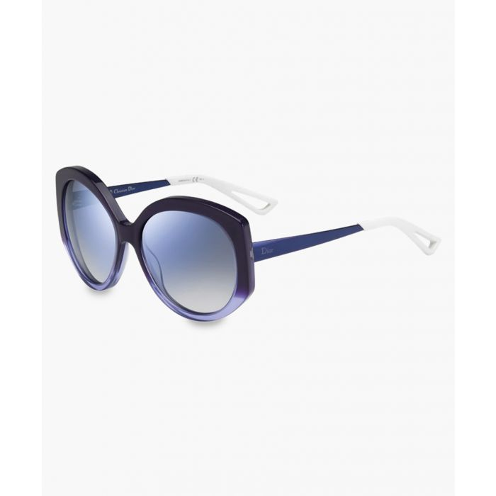 Image for Extase violet and sky oversized sunglasses