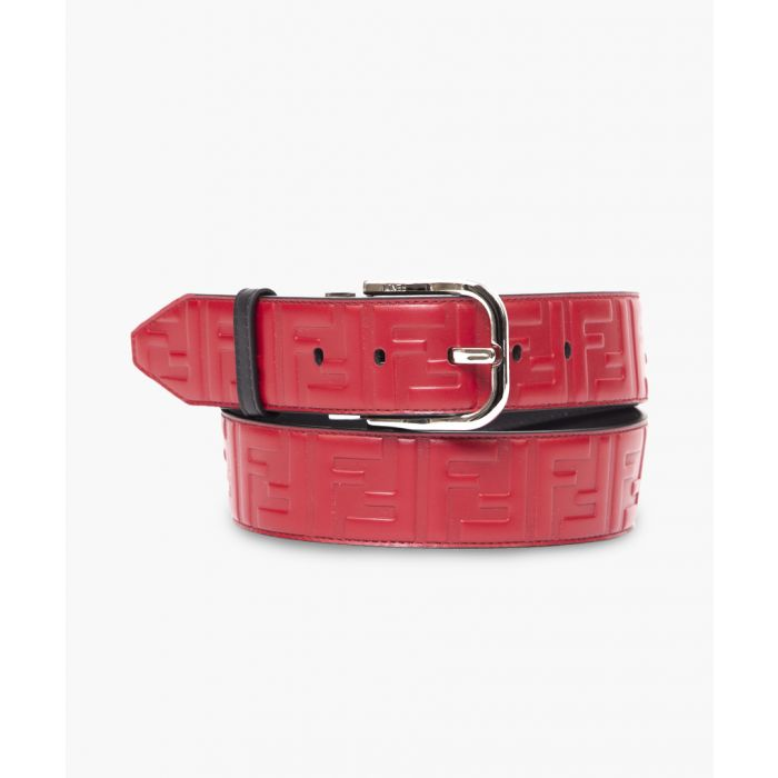 Image for Strawberry leather logo belt