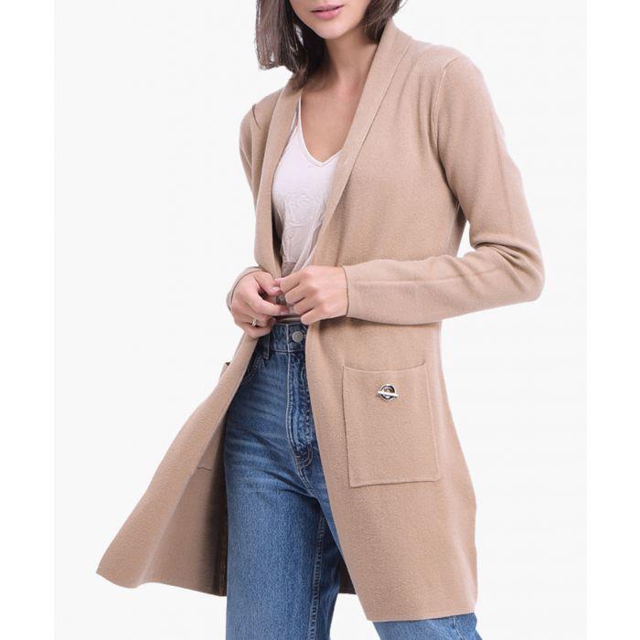Image for Camel cashmere blend cardigan