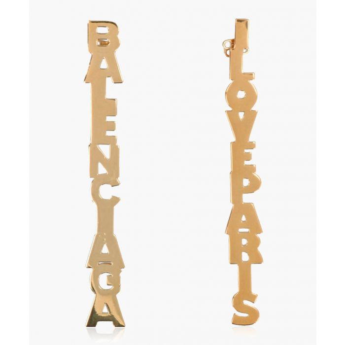 Image for Typo gold-tone drop earrings