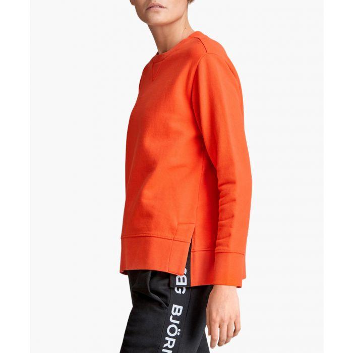 Image for B Sport orange slit crewneck sweater
