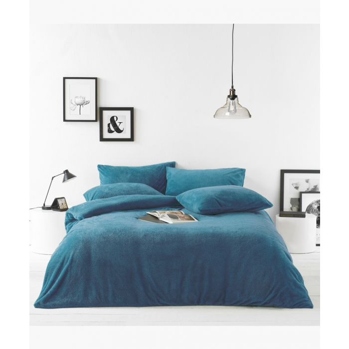 Image for Teal double duvet cover set
