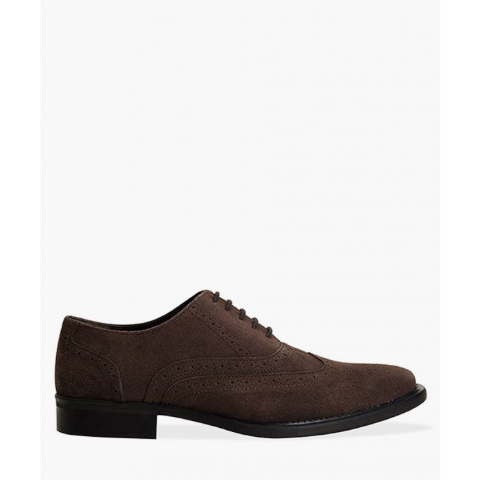 Image for Brown faux-suede Oxford brogues
