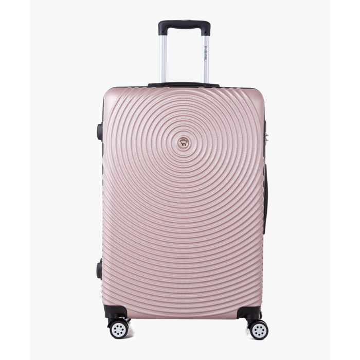 Image for Rose gold-tone spinner suitcase