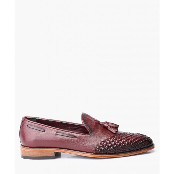 Image for Bordeaux leather loafers