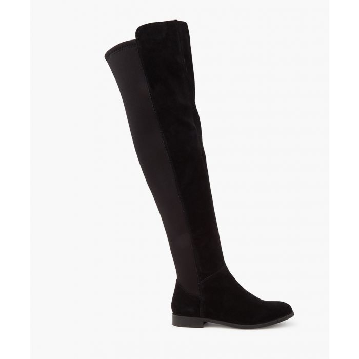 Image for Black suede over-the-knee boots