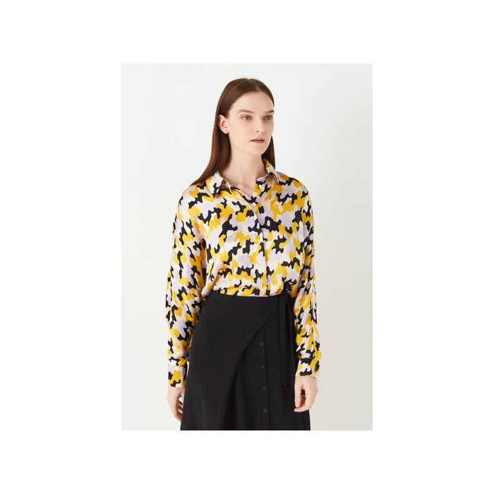Image for Eris Printed Satin Shirt - Multi
