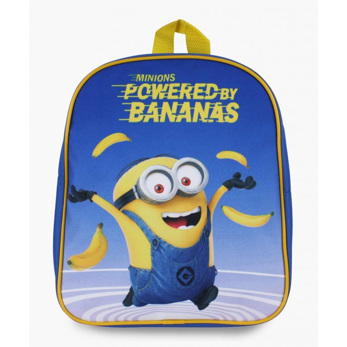 Image for Minions Powered By Bananas blue backpack