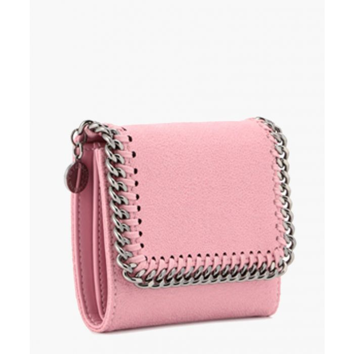 Image for Pink chain fold-over purse