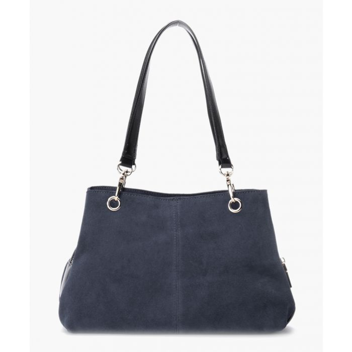 Image for Navy blue leather handbag