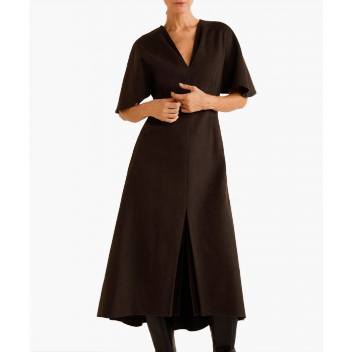 Image for Chocolate recycled wool dress