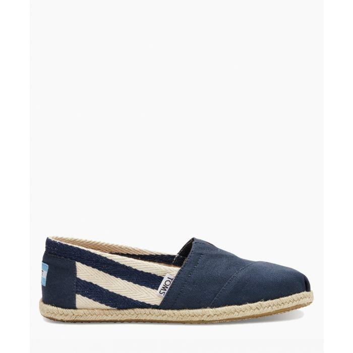 Image for Alpargata navy canvas shoes