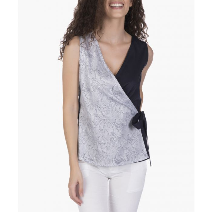 Image for Navy blue cotton blouse