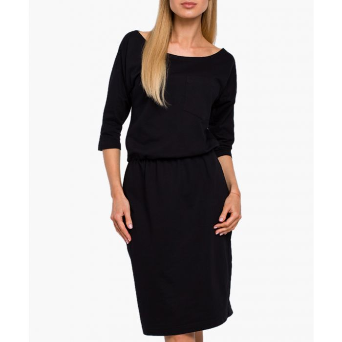 Image for Black pure cotton dress