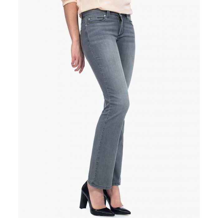 Image for Billie mini bootcut pearl grey jeans