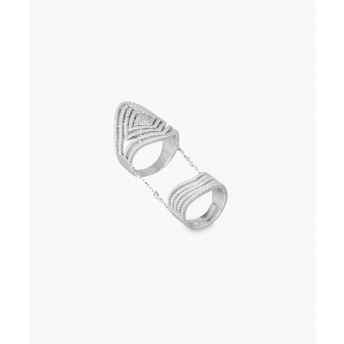 Image for Double Phalange Losange silver ring