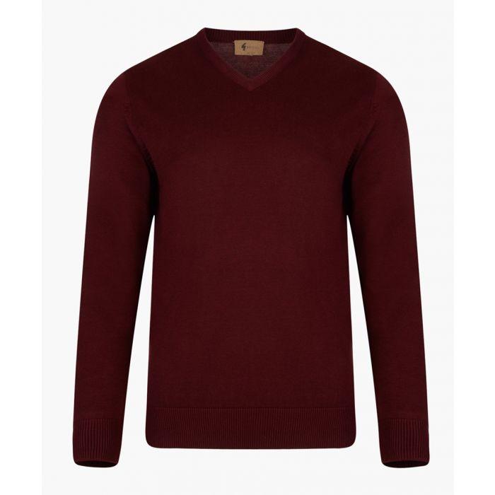 Image for Port cotton blend V-neck jumper
