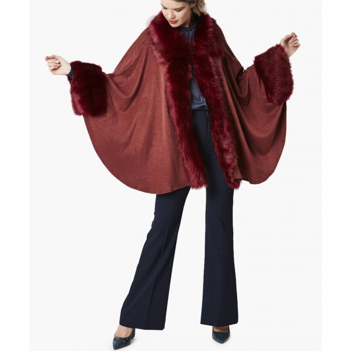 Image for Merlot luxury faux fur fine knitted coat