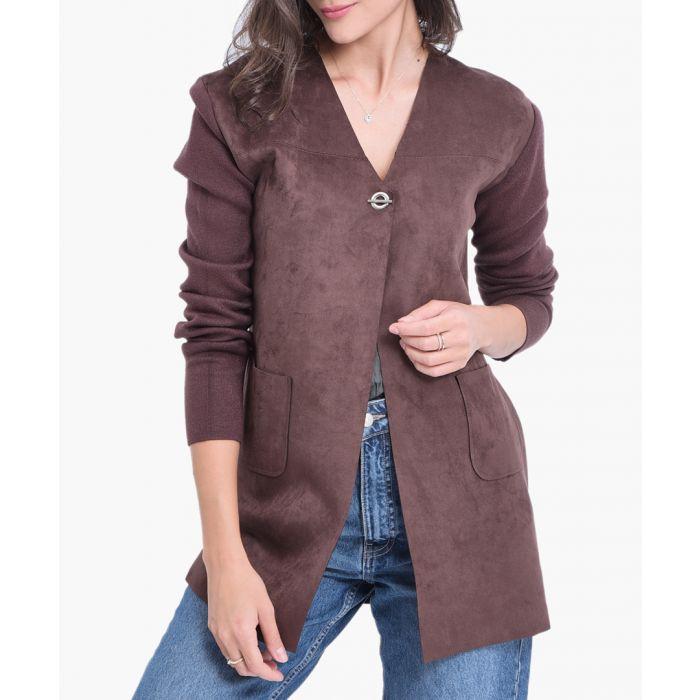 Image for Brown cashmere blend cardigan