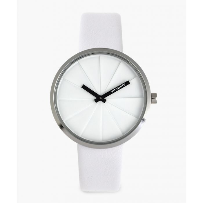 Image for The 4000 white genuine leather watch
