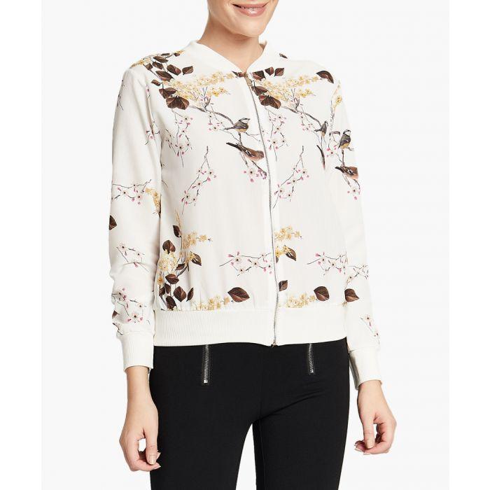 Image for Off-white botanical printed zip-up jacket