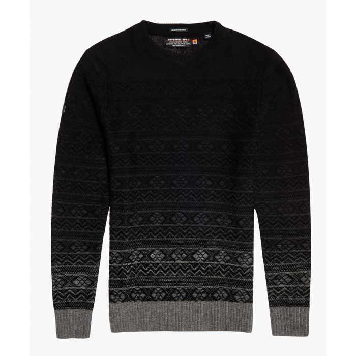 Image for Maribo grey wool blend crewneck top