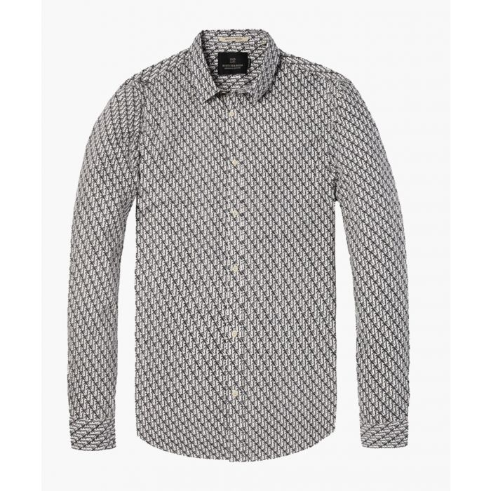 Image for Palm print cotton long sleeve shirt