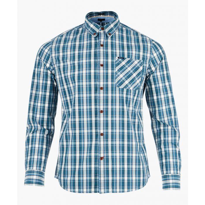 Image for Chambray check long sleeve shirt