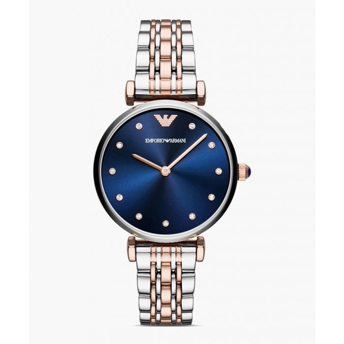 Image for Dual-tone and blue dial watch