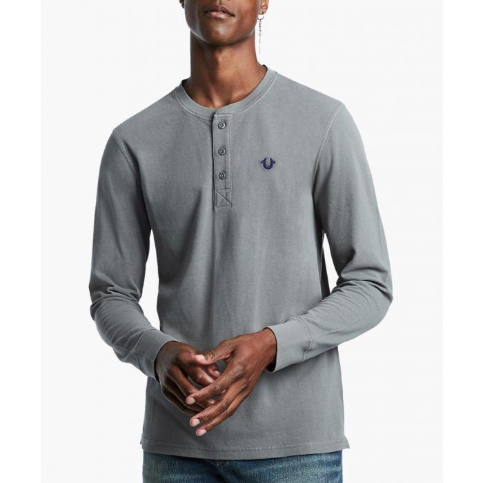 Image for Henley charcoal jumper