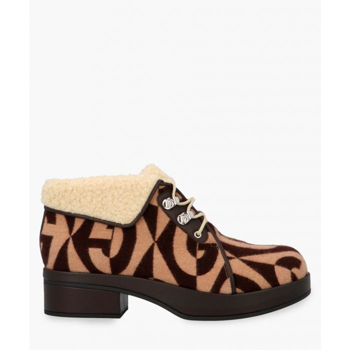 Image for Monogram print ankle boots 45mm