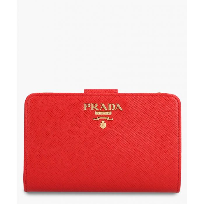 Image for Red leather wallet